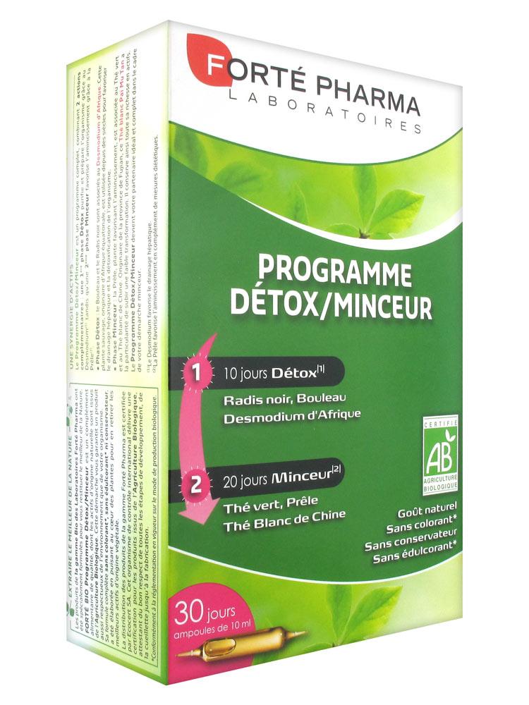 FORTE PHARMA S buv programme détox minceur 30Amp/10ml