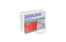 DAFALGAN 250 mg Poudre effervescente pour solution buvable (Boîte de 12)