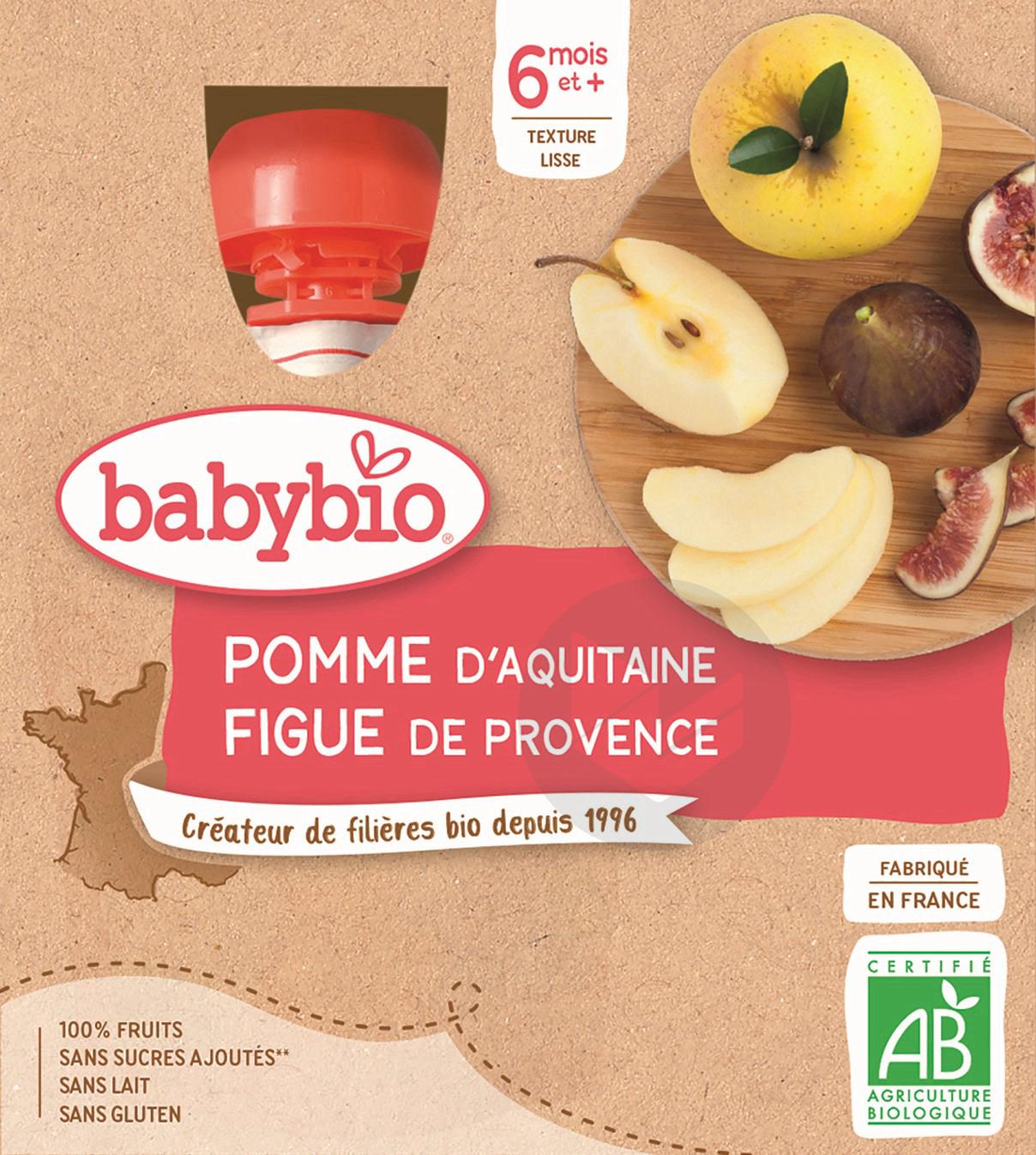 BABYBIO Gourde Pomme Figue