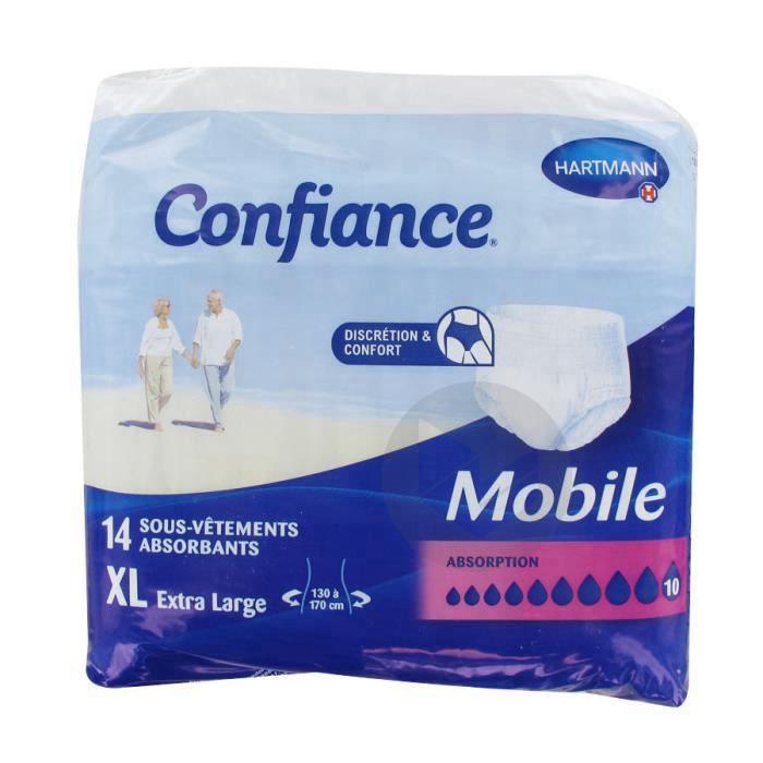 Confiance Mobile Slip Absorbant Jetable 10 G Xl Sach 14