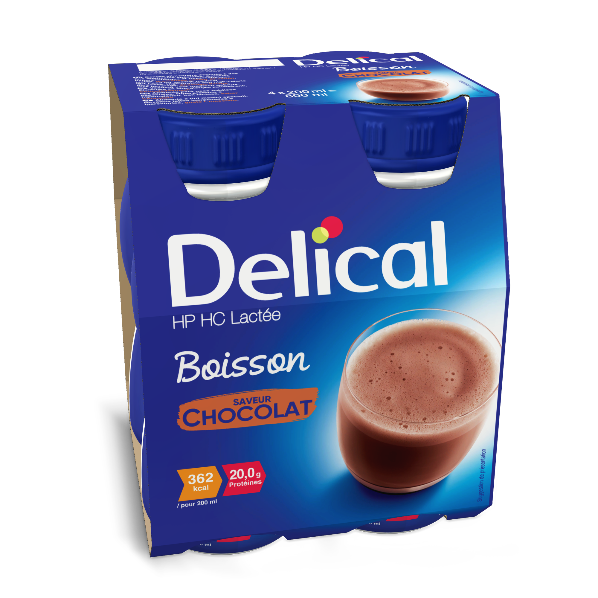 Delical Boisson Hp Hc Lactee Chocolat