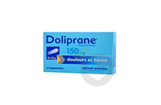 DOLIPRANE 150 mg Suppositoire (2 plaquettes de 5)