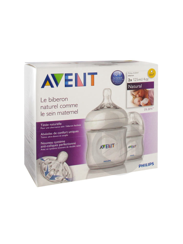 AVENT NATURAL Biberon polypropylène 125ml B/2