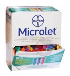 Lancette siliconée colorée x200