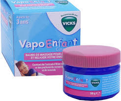Baume De Massage Apaisant Pot 50 G Vicks Vapoenfant