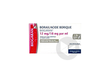 Borax Acide Borique Biogaran 12 Mg 18 Mg Ml Solution Pour Lavage Ophtalmique En Recipient Unidose 20 Recipients Unidose