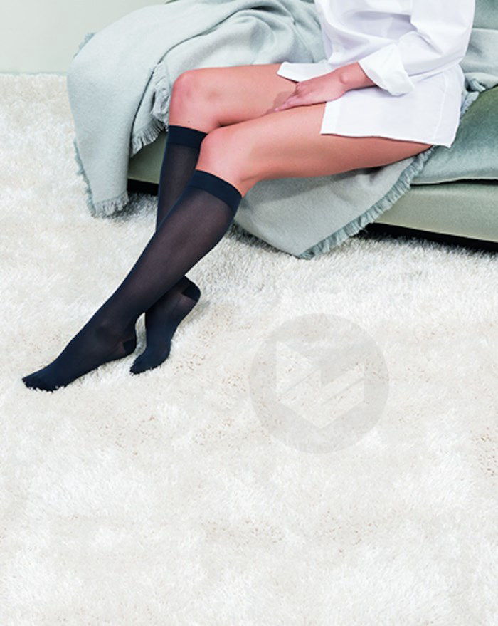 Chaussette Semi Transparente Classe 2 Noir Longueur Normale Taille M