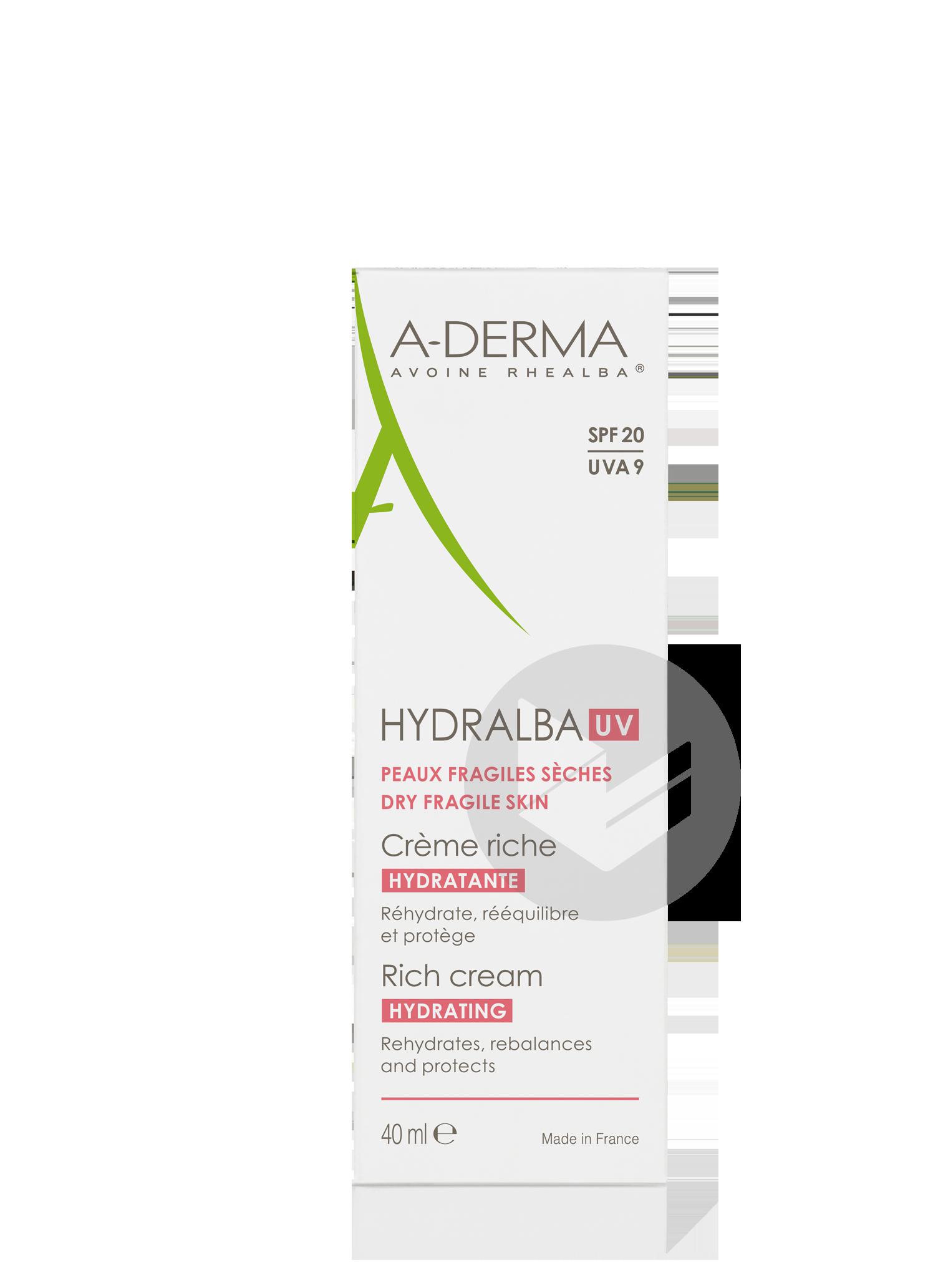 Crème hydratante UV riche 40ml