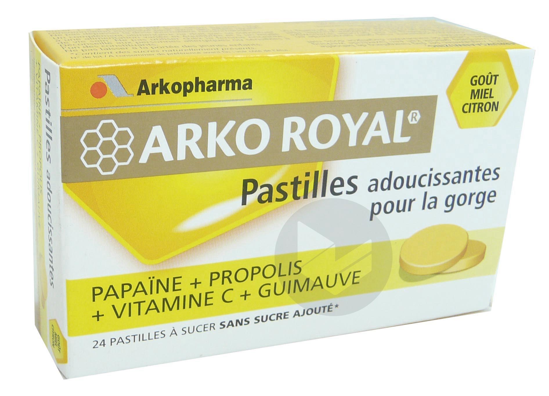 Arko Royal Propolis Past Adoucissante Gorge Guimauve Miel Citron B 24