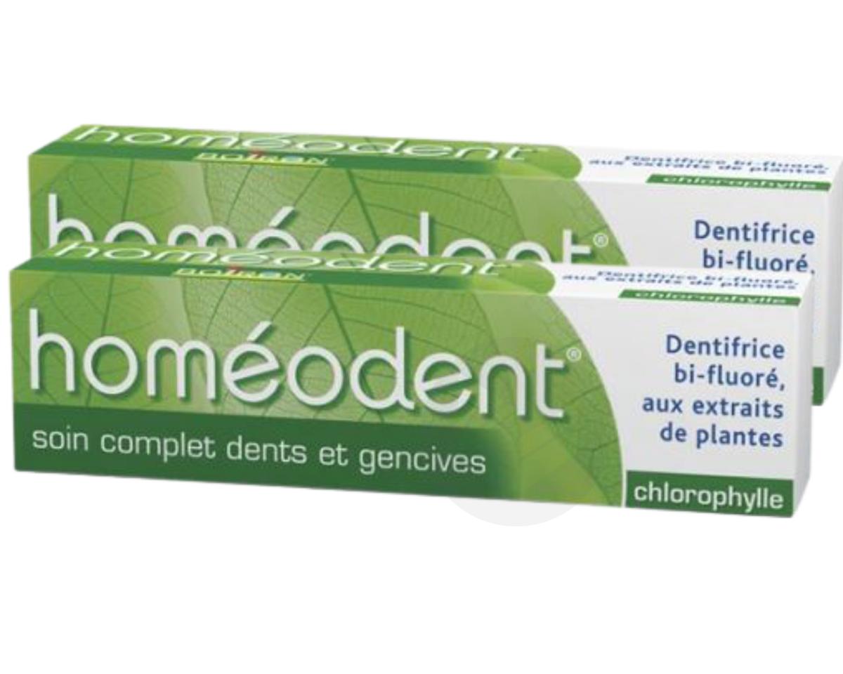 Homéodent Soin complet dents et gencives chlorophylle 2x75ml