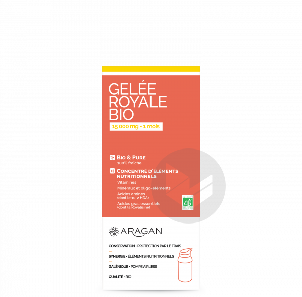 ARAGAN GELEE ROYALE BIO 15000 mg Gelée Fl pompe airless/18g