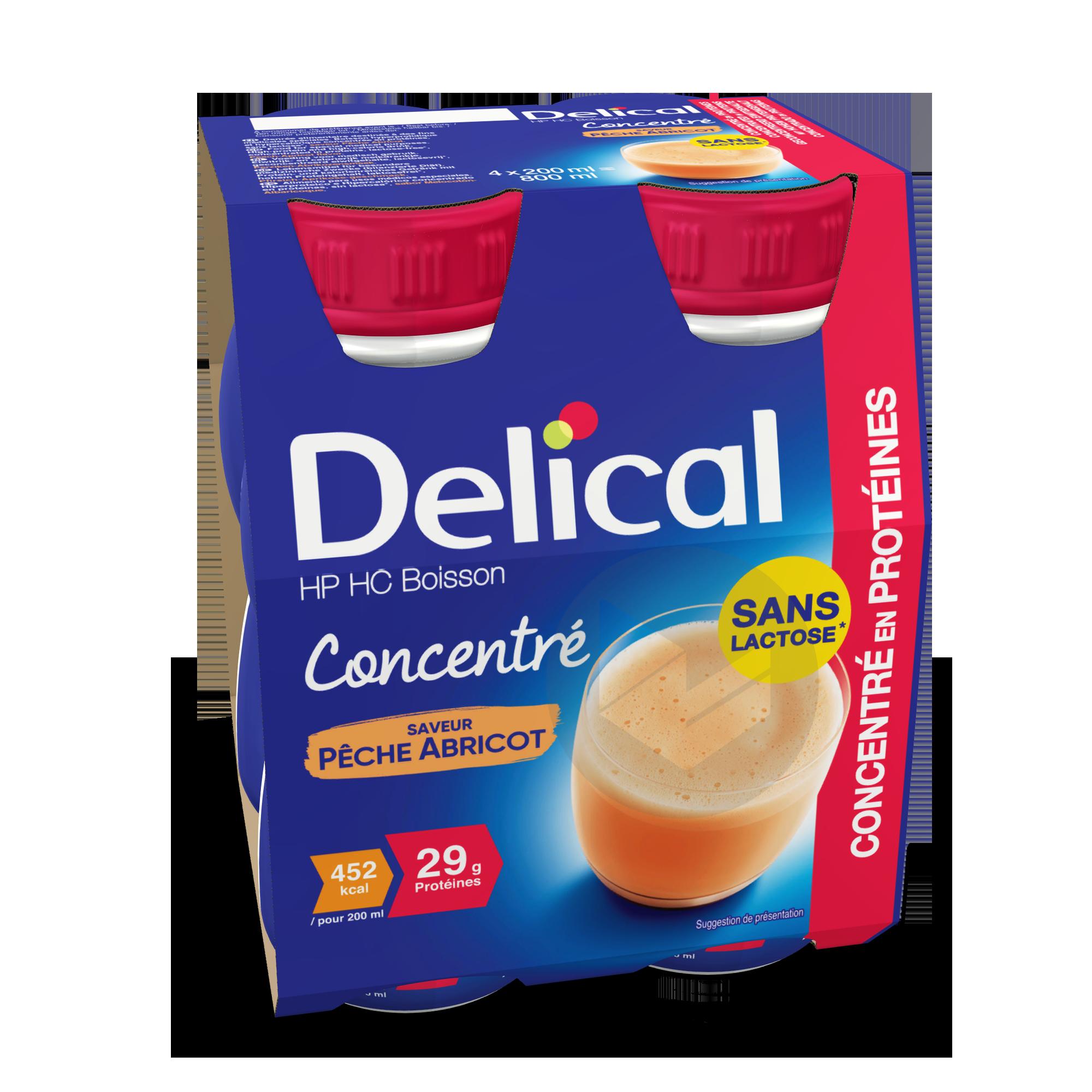 Delical Boisson Hp Hc Concentre En Proteines Sans Lactose Peche Abricot