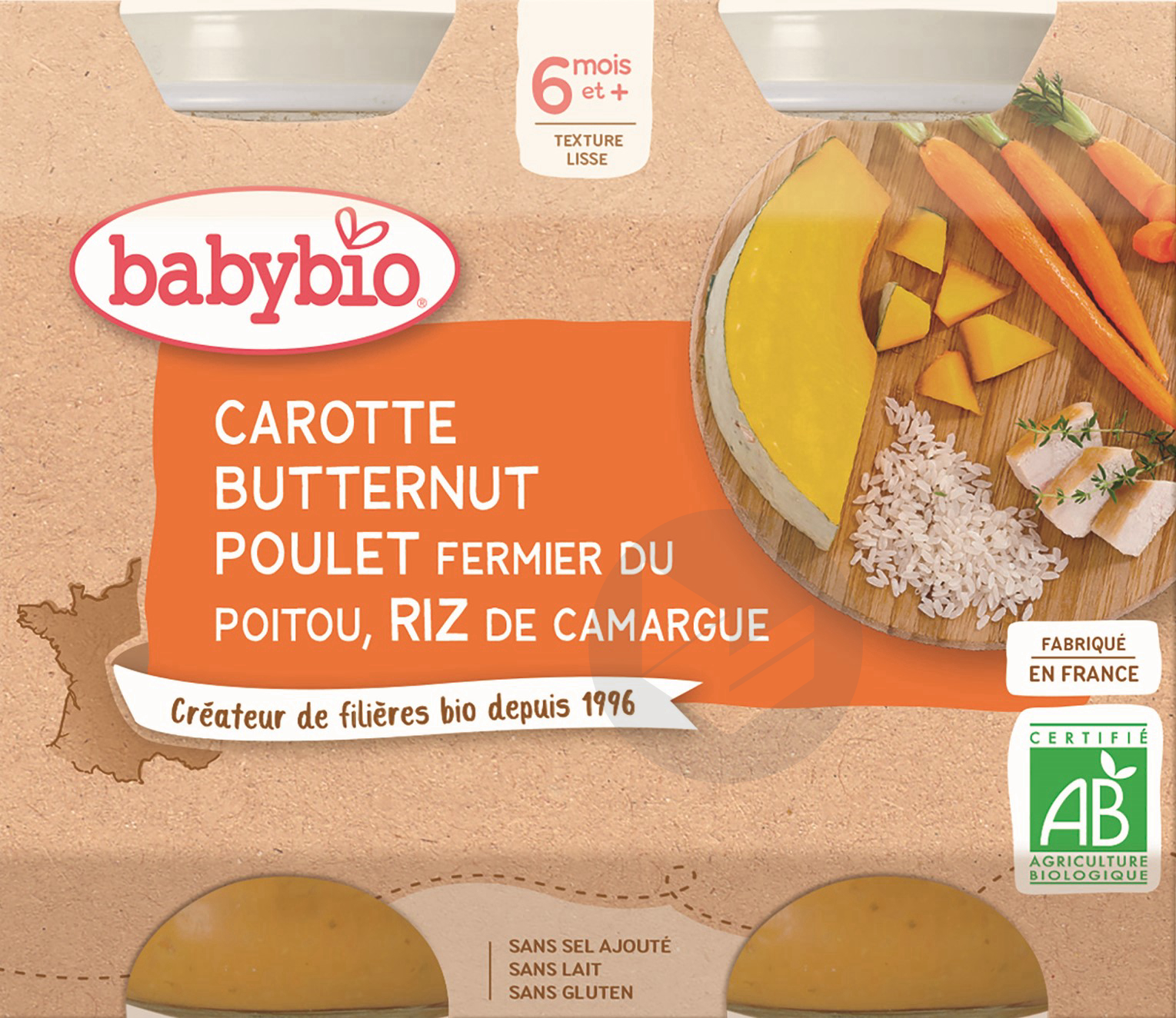 Pot Carotte Courge Butternut Poulet Riz