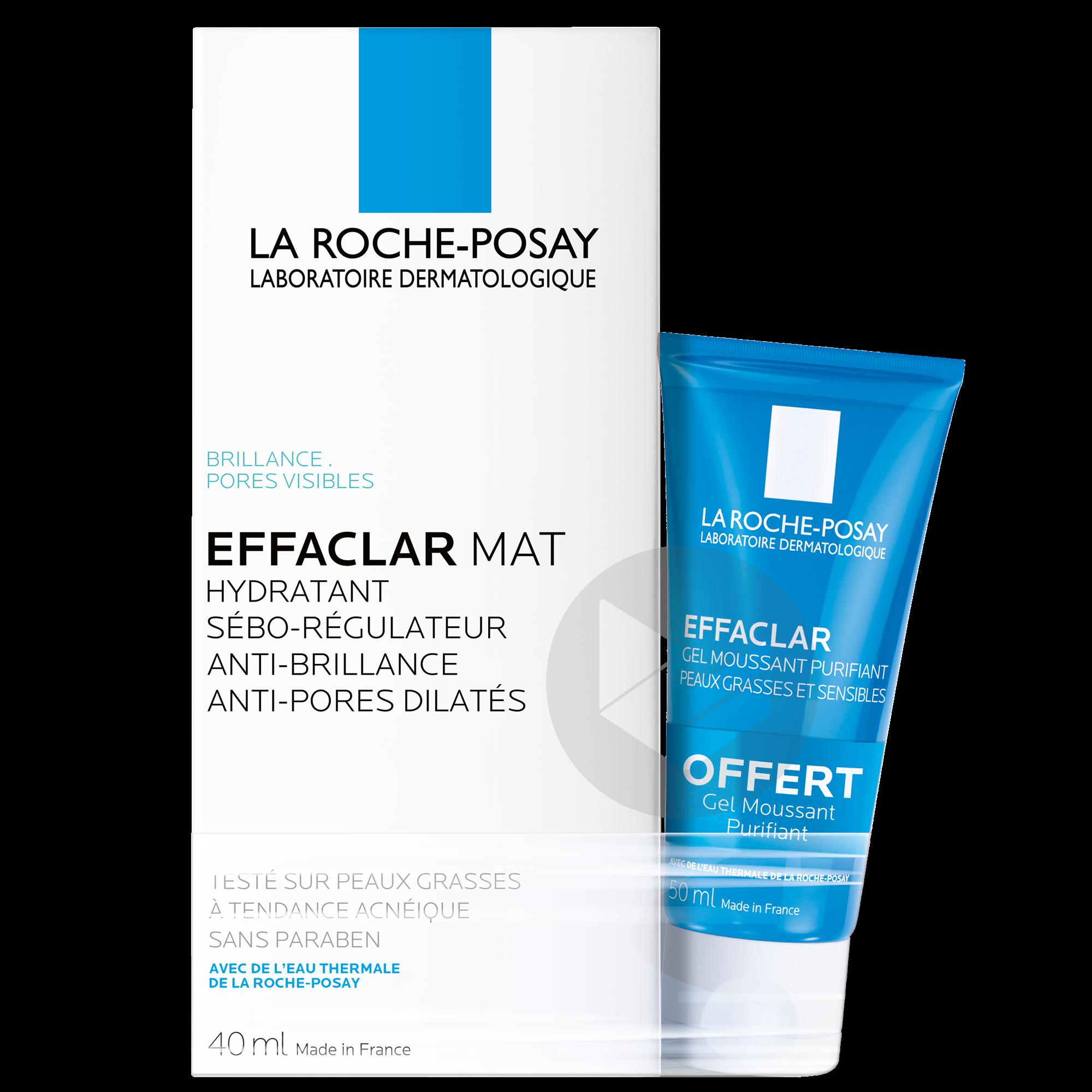 Effaclar Mat Soin hydratant sébo-régulateur + Mini gel moussant offert