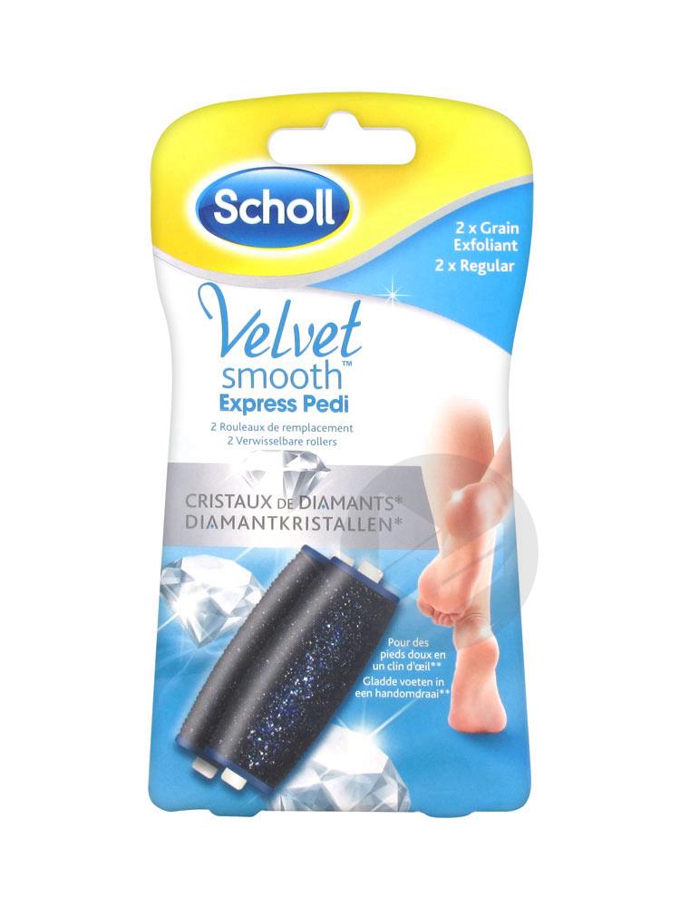 SCHOLL VELVET SMOOTH EXPRESS PEDI Rouleau de remplacement grain exfoliant B/2