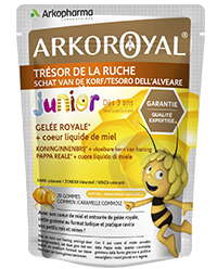 ARKO ROYAL JUNIOR Gelée royale Miel Gomme coeur liquide Sach/20