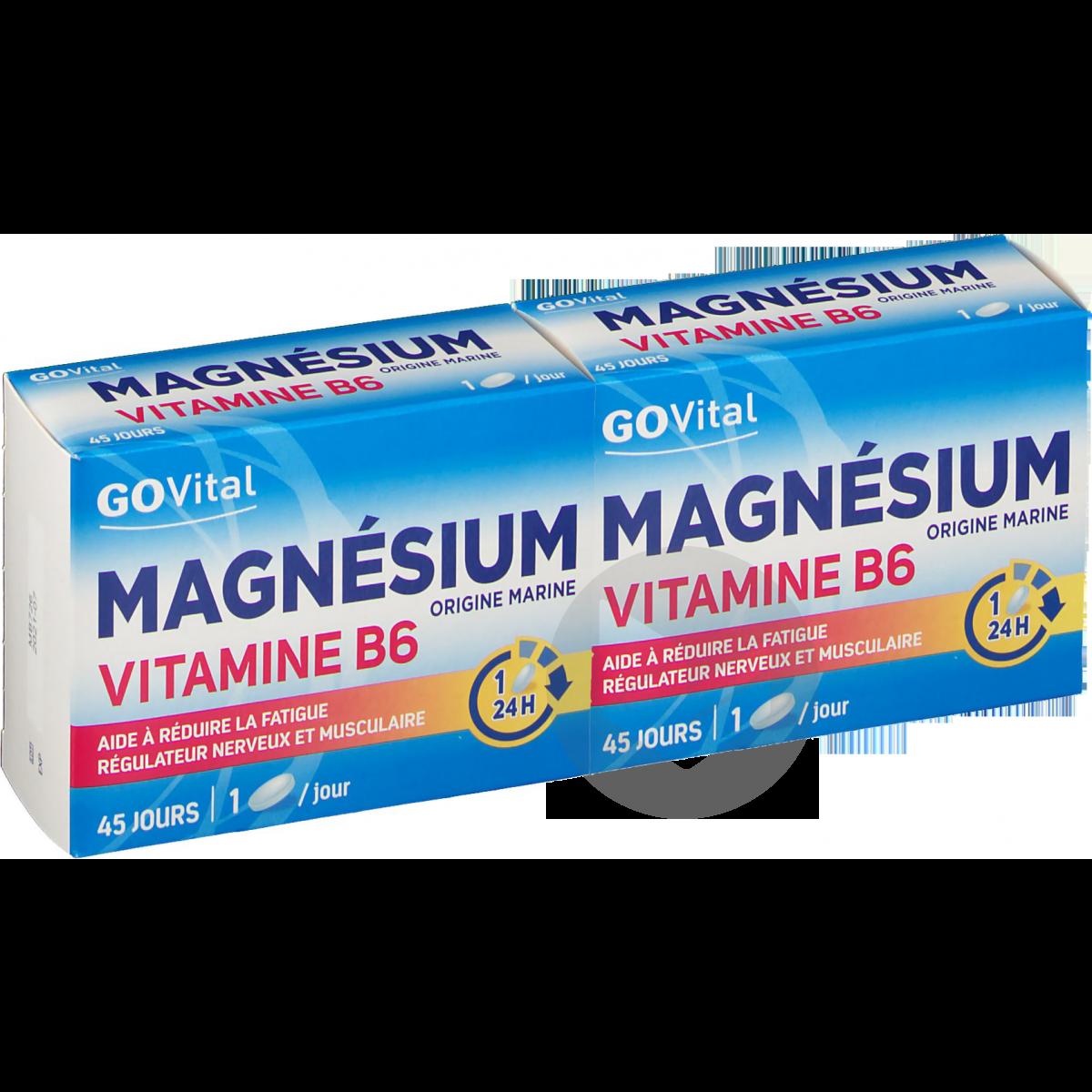Govital Magnesium B 6 45 Comprimes X 2 Boites