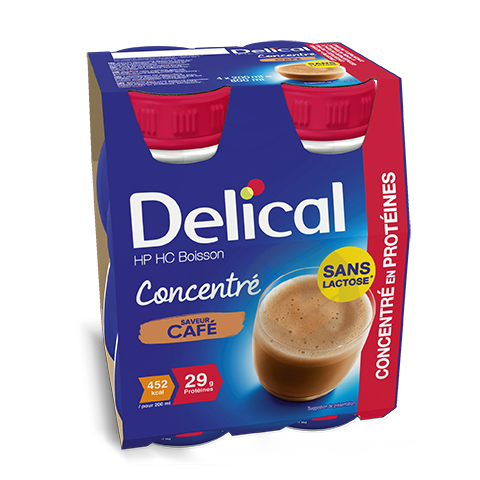 Delical Boisson Hp Hc Concentre En Proteines Sans Lactose Cafe
