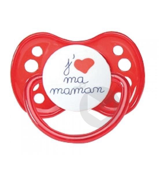 LUC ET LEA Sucette physiologique 0-6mois spécial bébé allaité j'aime ma maman
