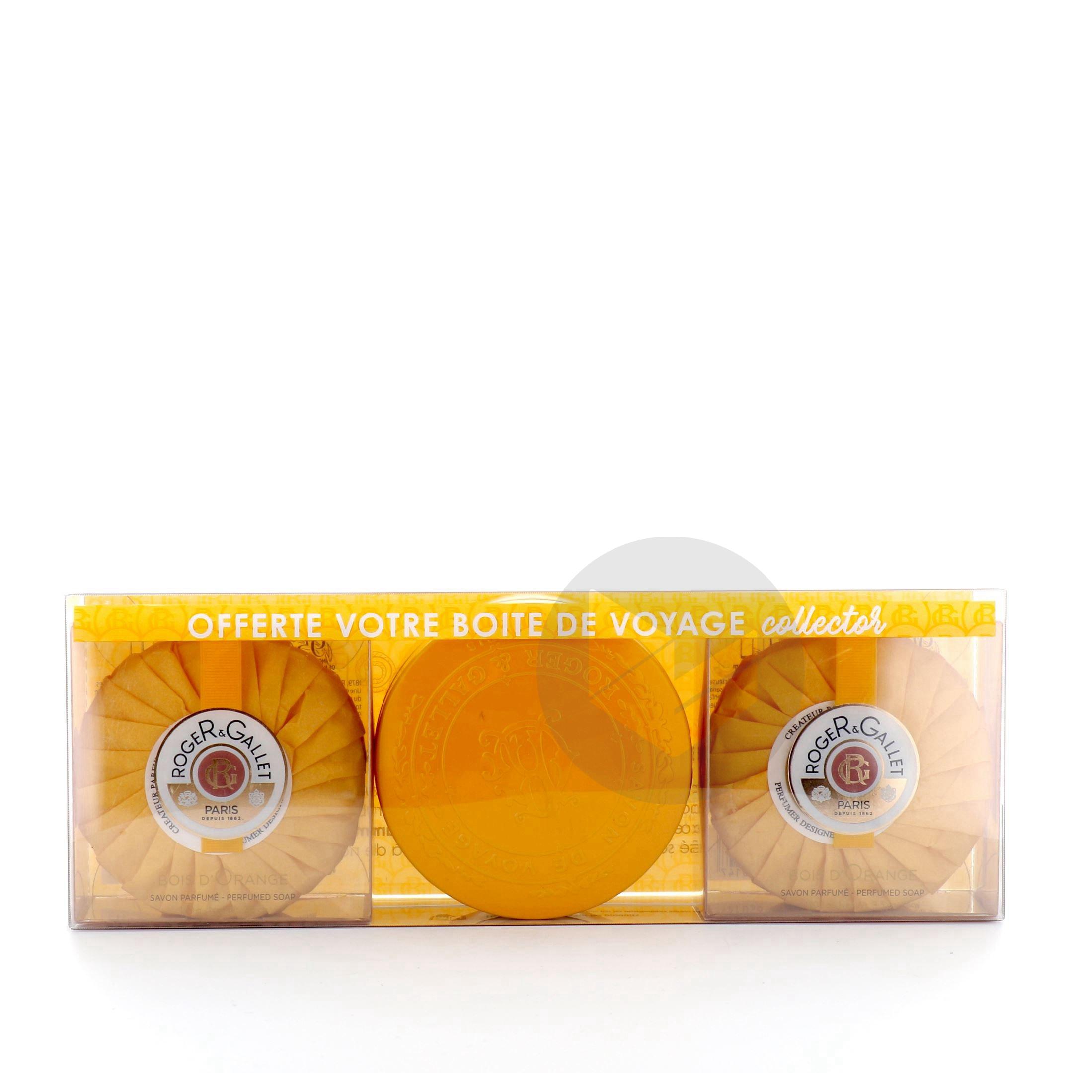 Coffret Savons Parfumés Bois d'Orange + 1 boîte voyage iconique offerte !