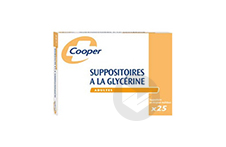 A La Glycerine Cooper Suppositoire En Recipient Multidose Adulte Sachet De 25