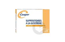 SUPPOSITOIRES A LA GLYCERINE COOPER Suppositoire en récipient multidose adulte (Sachet de 25)