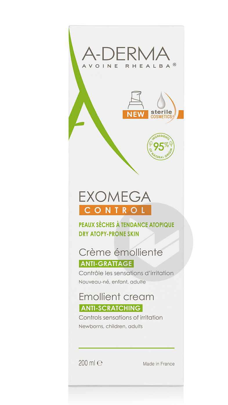 A Derma Exomega Control Creme Emolliente Cosmetique Sterile 200 Ml