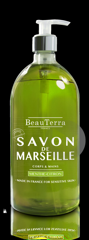 Savon De Marseille Liquide Menthe Citron 1 L