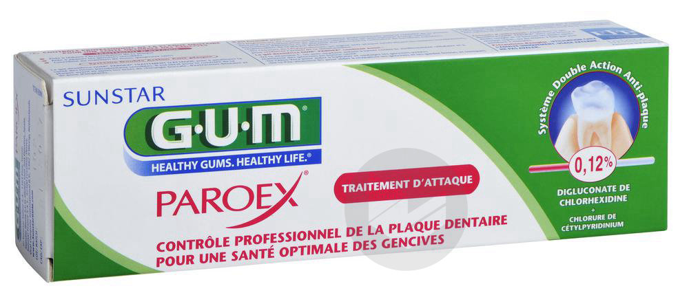 Gel Dentifrice Gum Paroex 75 Ml