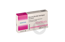 Borax Acide Borique Zentiva 12 Mg 18 Mg Ml Solution Pour Lavage Ophtalmique En Recipient Unidose 20 Recipients Unidose De 5 Ml
