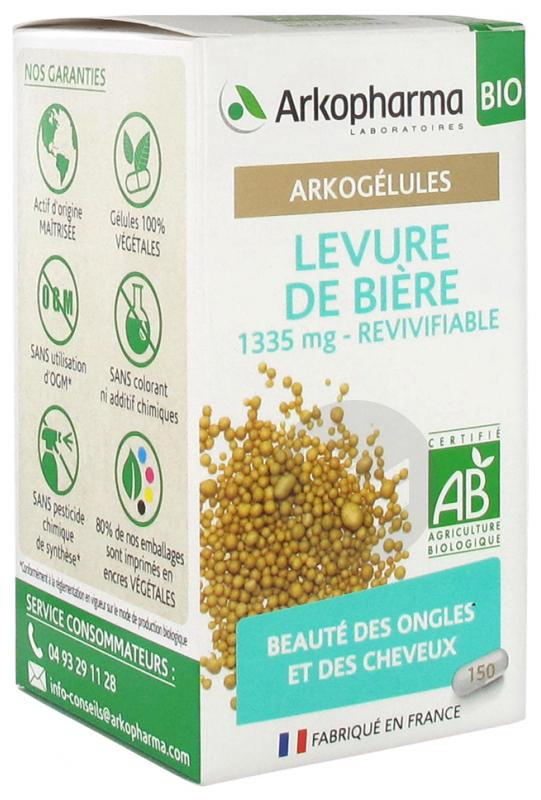 Arkogelules Levure De Biere Bio 150 Gelules