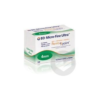 Bd Micro Fine Ultra Aiguille Pour Stylo Injecteur 0 23 X 4 Mm B 100