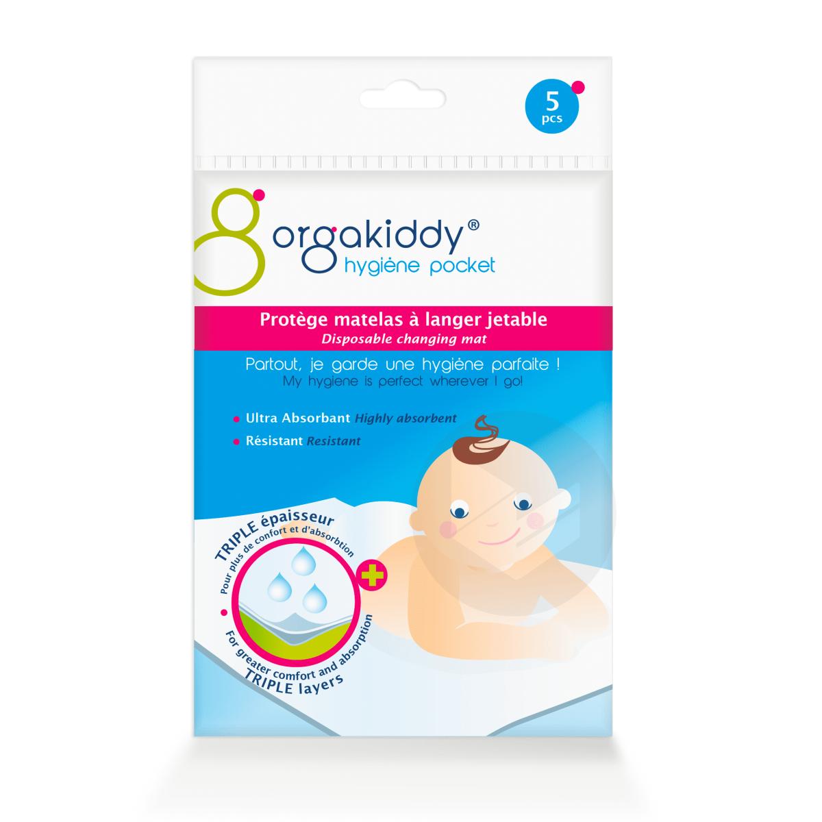 Protège matelas à langer bébé jetable x5