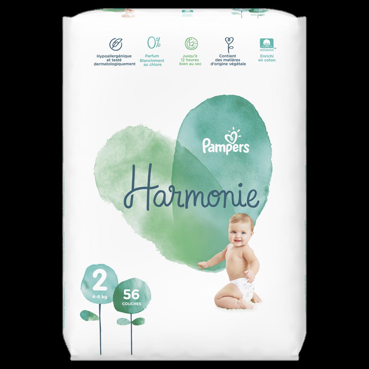 Couche Harmonie Taille 2 4 8 Kg X 56