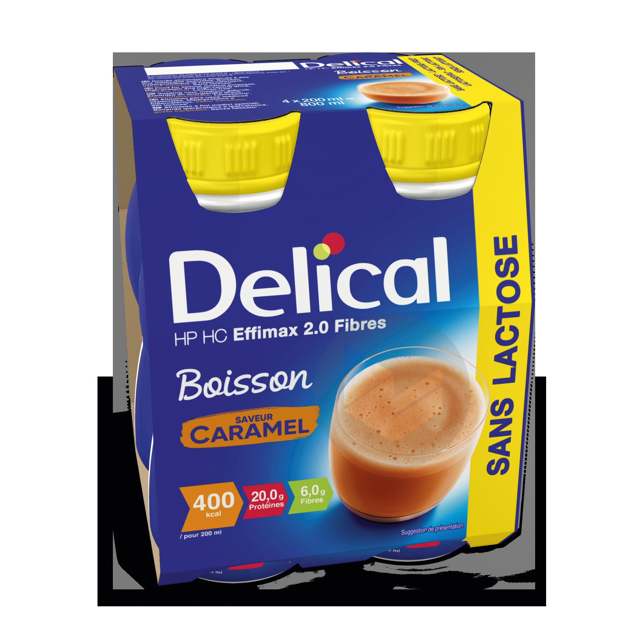 Delical Boisson Sans Lactose Hp Hc Effimax 2 0 Caramel Avec Fibres
