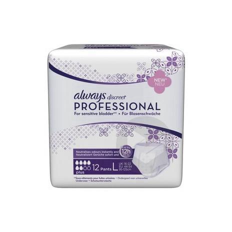 Discreet Professional Slip Absorbant Plus L Paq 12