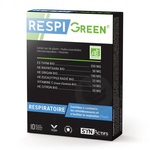 Synactifs Respigreen 10 Gelules