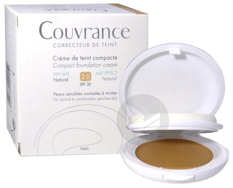 Couvrance Cr De Teint Compacte Fini Mat Naturel Boitier 10 G