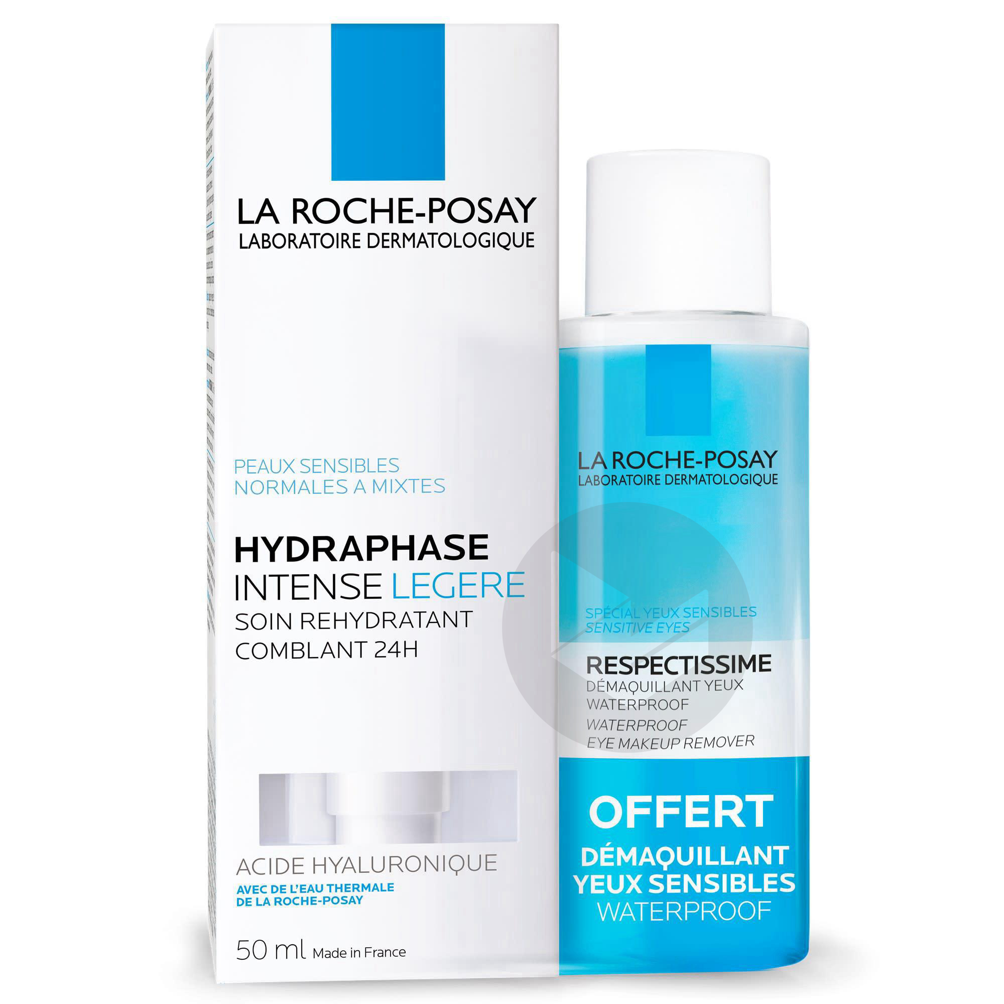 Hydraphase Intense Légère+ Respectissime Démaquillant Yeux Waterproof 50ml Offert
