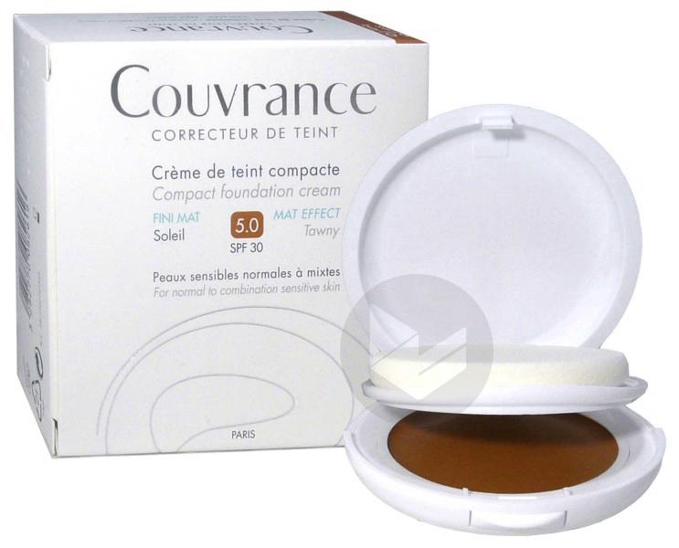 Couvrance Cr De Teint Compacte Fini Mat Soleil Boitier 10 G