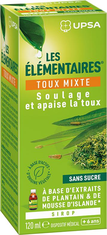Les Elementaires Toux Mixte Sans Sucre Sirop 120 Ml