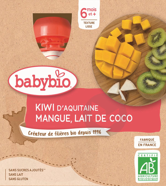BABYBIO Gourde Kiwi Mangue Coco