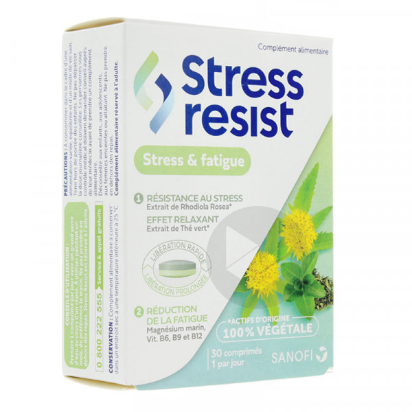 Stress Resist Stress Fatigue 30 Comprimes