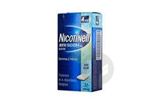 NICOTINELL 4 mg Gomme à mâcher médic menthe fraicheur sans sucre (Plaquette de 36)