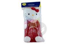 Bouillotte Peluche Hello Kitty Salopette Rouge