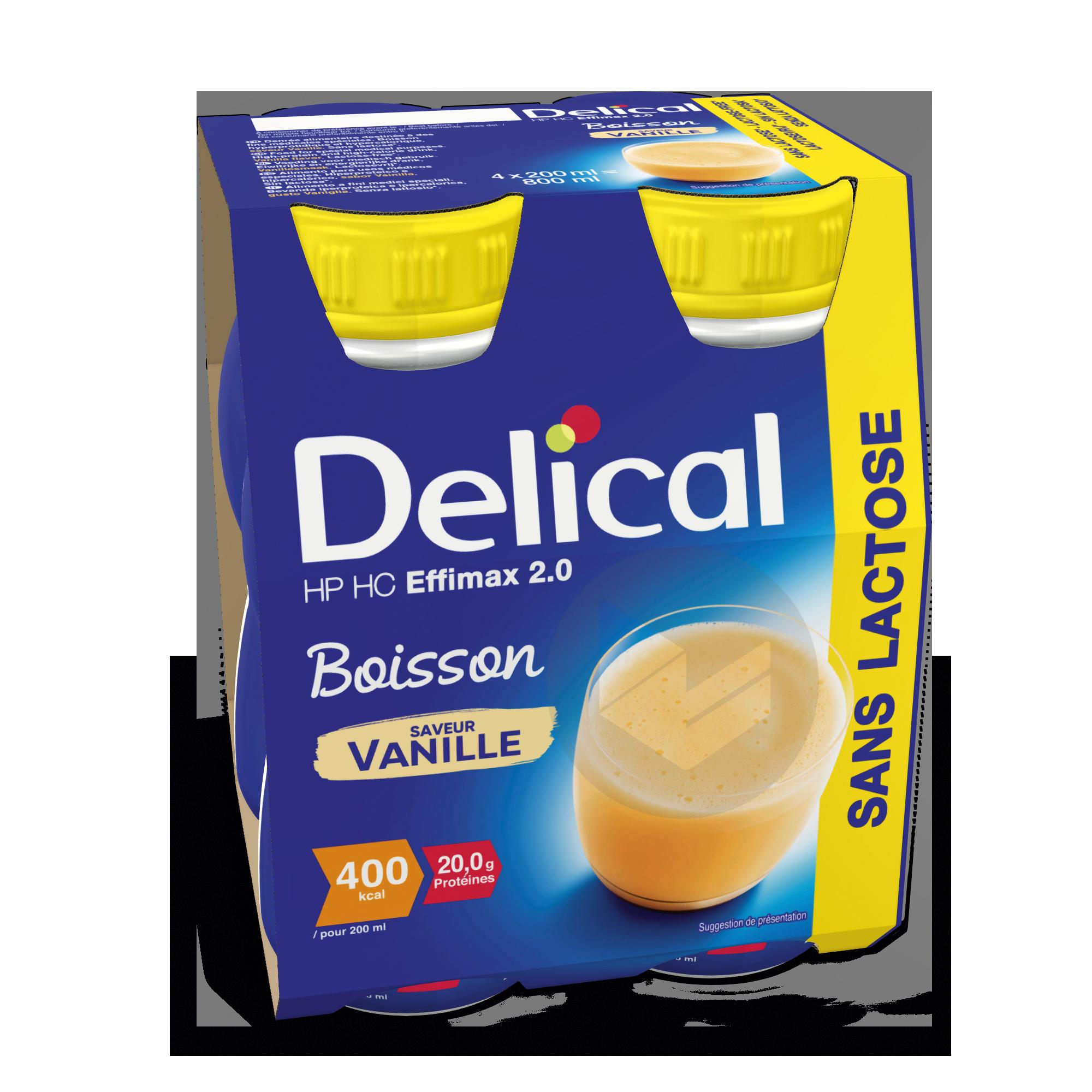 Delical Boisson Sans Lactose Hp Hc Effimax 2 0 Vanille