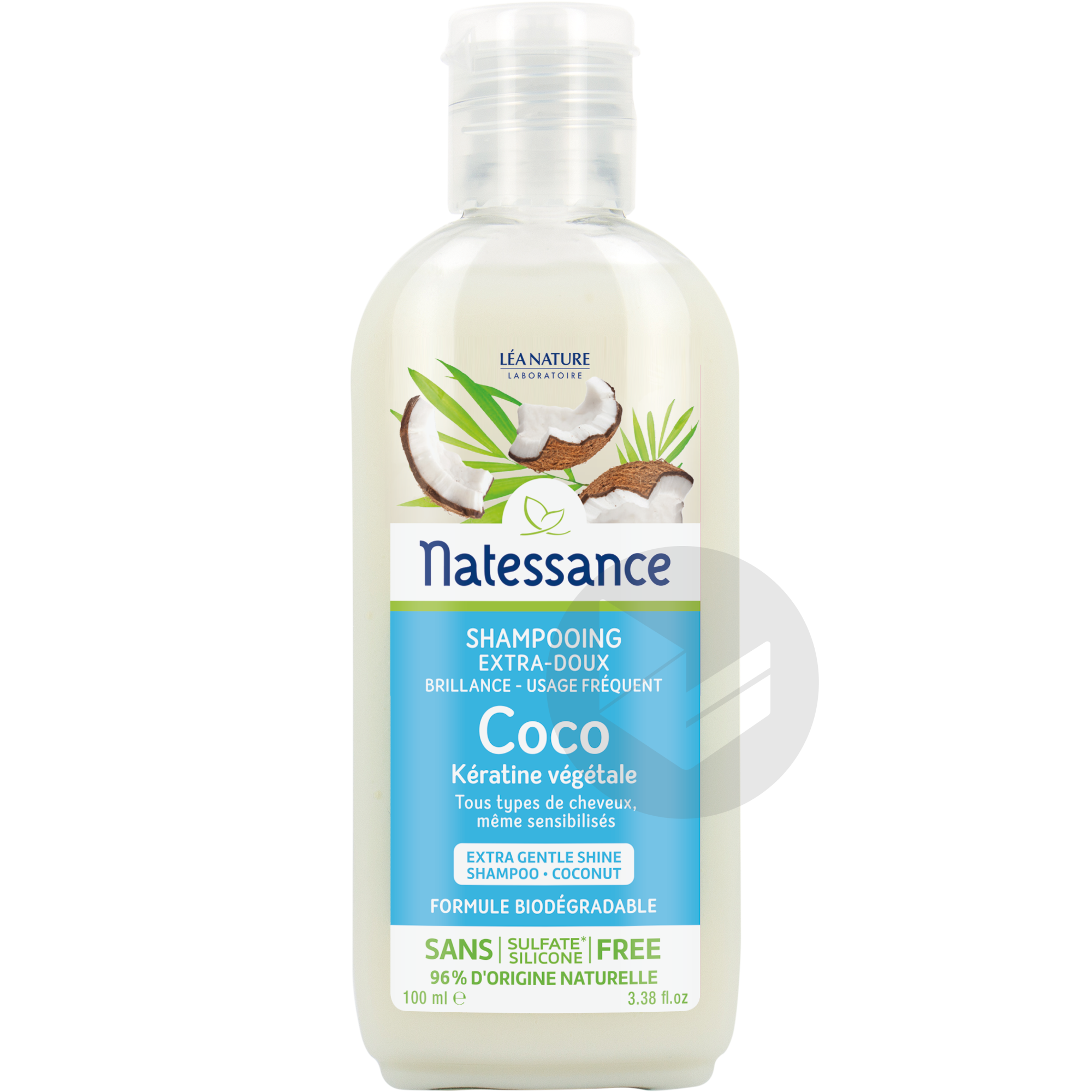 Shampooing Extra Doux Brillance Coco Keratine Vegetale Usage Frequent