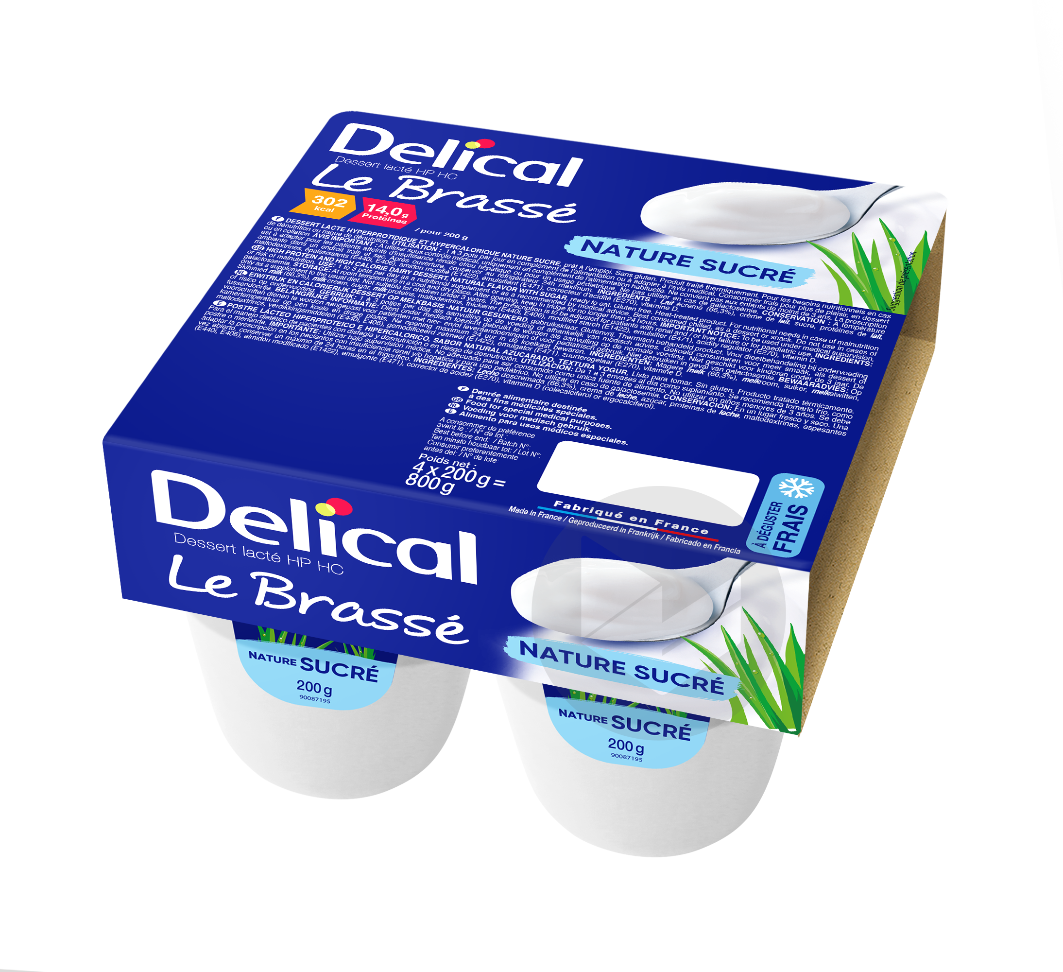 Delical Le Brasse Hp Hc Nature Sucre