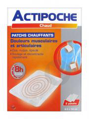 Actipoche Patch Chauffant Douleurs Musculaires X 2