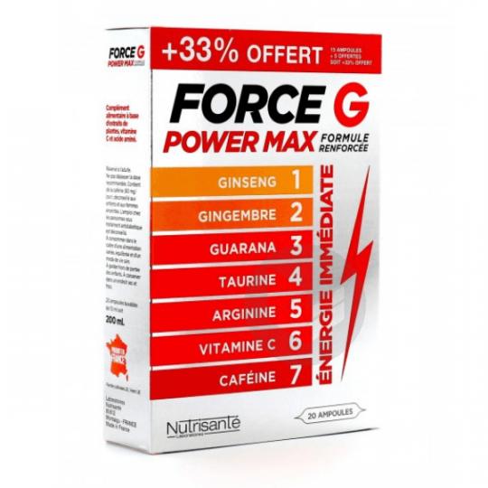 Force G Power Max Formule Renforcée 20 ampoules